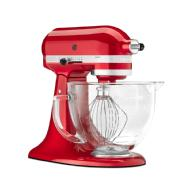 KitchenAid Batteur sur socle avec bol en verre de 4,7 l de la série design Artisan (Candy Apple Red)
