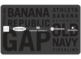 Carte-cadeau Options Gap, Banana Republic et Old Navy