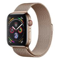 Apple Apple Watch Series 4 GPS + Cellular, 40mm -Boîtier acier or -Bracelet Milanais or