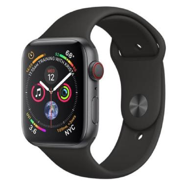 Apple Watch Series 4 GPS + Cellular, 44mm Cassa in alluminio anodizzato color grigio siderale con cinturino Sport nero