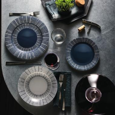 Set tavola 18pz grey - Stria